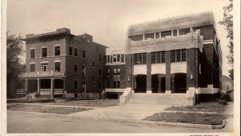 The original CoxHealth hospital, in the early 1900s.