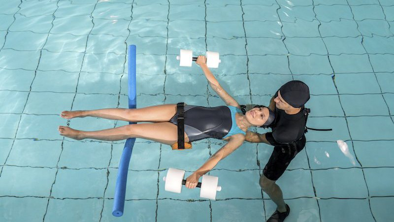 Aquatic therapy can be helpful.