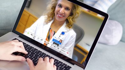 A patient uses CoxHealth's Virtual Visits.