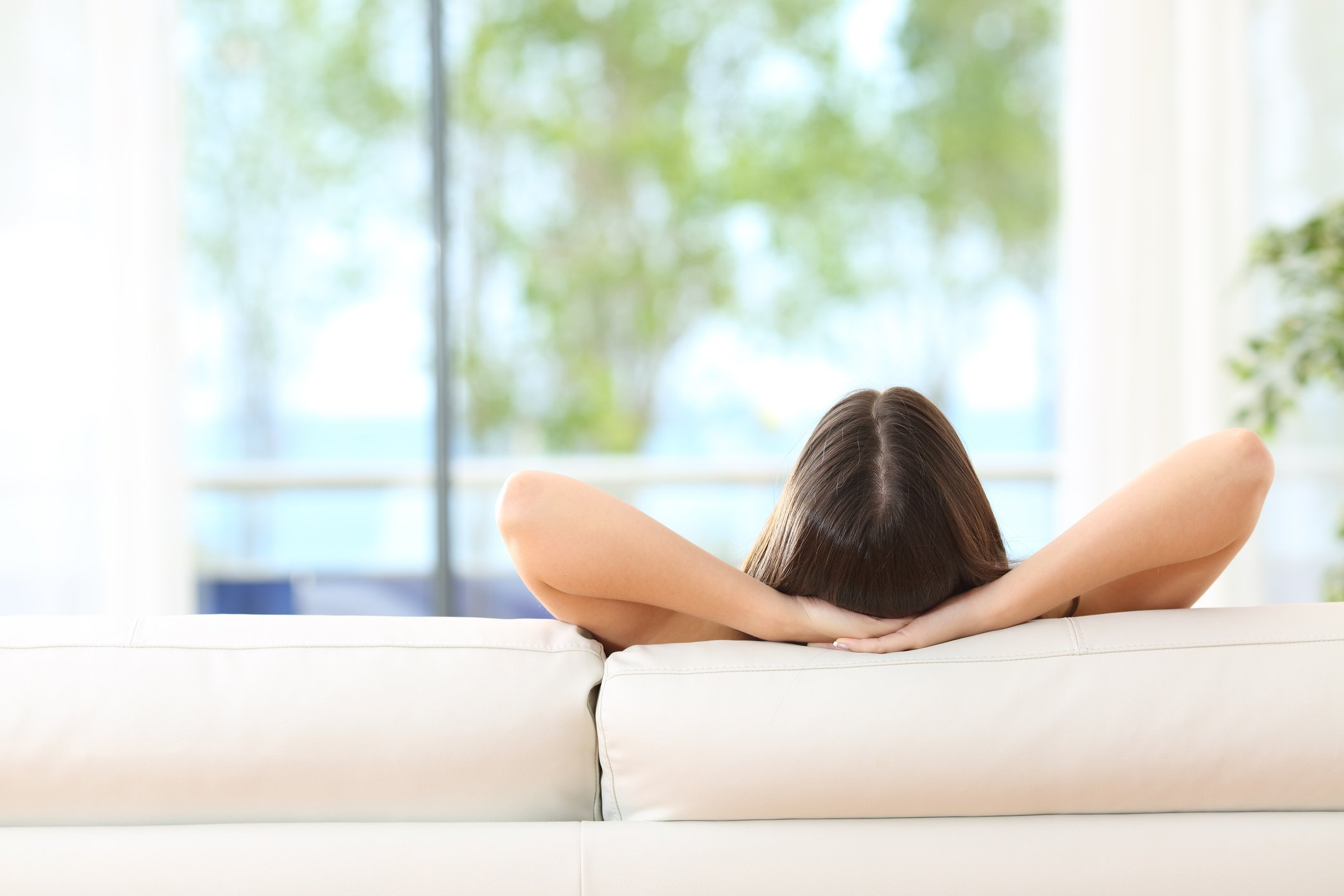 A woman learns relaxation techniques at CoxHealth's stress management series.